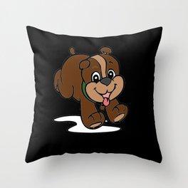 Little Playful Puppy Throw Pillow