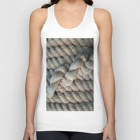 nautical Tank Tops featuring NAUTICAL  ROPE by Manuel Estrela 113 Art Miami
