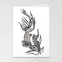 data Stationery Cards featuring Data Fish by Samantha Witherford