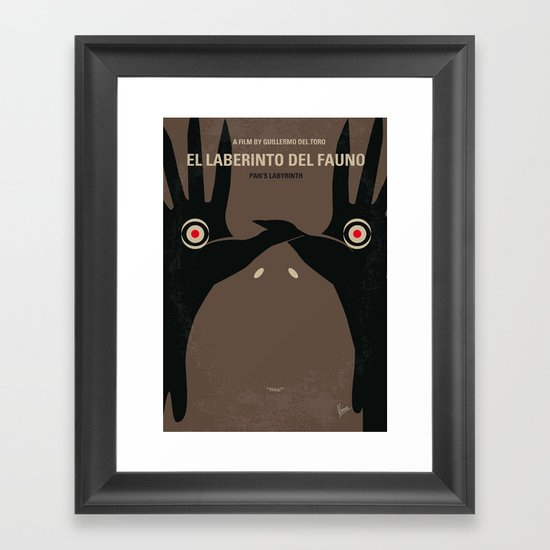 No061 My Pans Labyrinth minimal movie poster Framed Art Print
