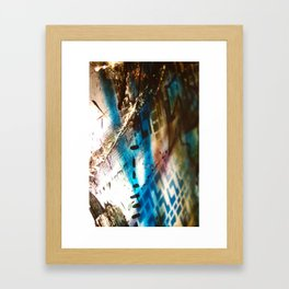 Retrollage 9.. Framed Art Print