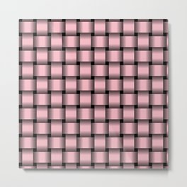 Light Pink Weave Metal Print