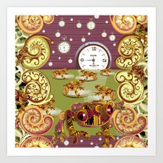 Freddie Croaker and the Clockworks Moonlight Sonata. Art Print
