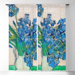 Irises by Vincent van Gogh Oil Painting Still Life Floral Arrangement In Vase Blackout Curtain
