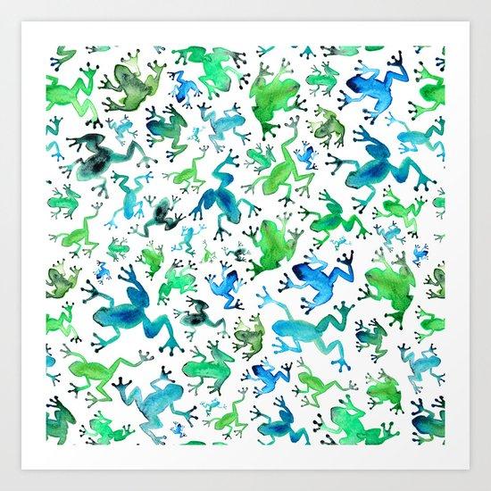 Tree Frogs by elenaoneill