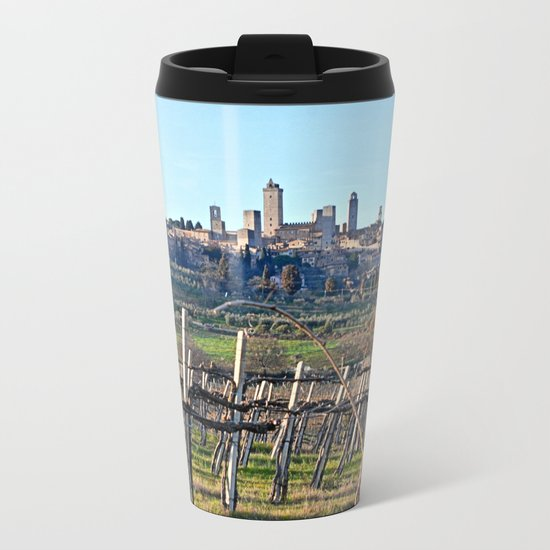 Tuscany's Town of Fine Towers Metal Travel Mug