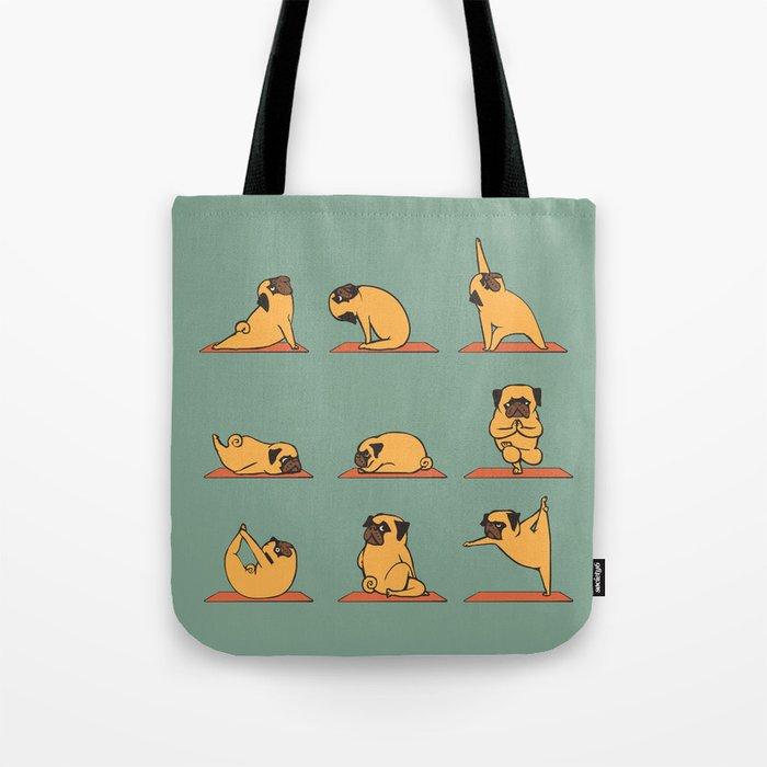 Pug Yoga Tote Bag by huebucket   Society6 9210530cbd