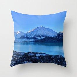 Tasman Glacier Valley Throw Pillow