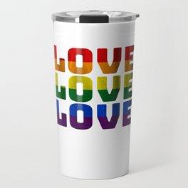 Love LGBT LGBT Pride Gift Travel Mug