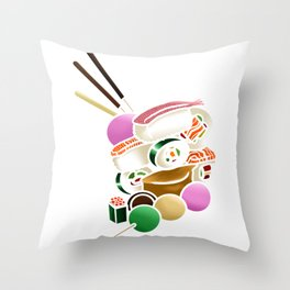 Sushi and Sweets - Inside Throw Pillow