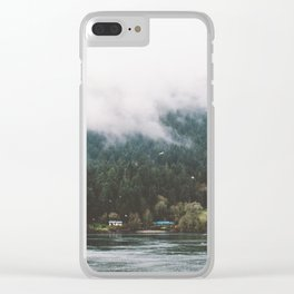 Foggy Vancouver Island, BC Clear iPhone Case