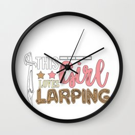 Larping Girl Larper Larps Role-playing Action Gift Wall Clock