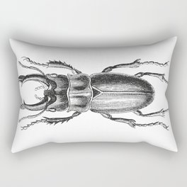 Vintage Beetle black and white Rectangular Pillow
