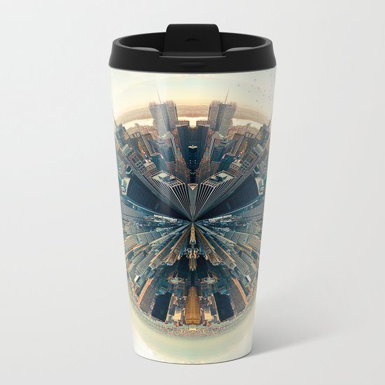 Parallel New York Cities Metal Travel Mug