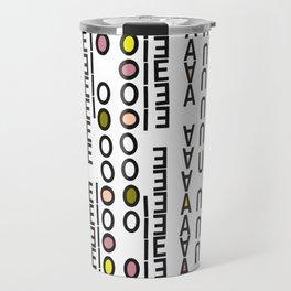 Vowels Travel Mug