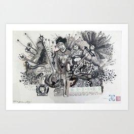 O DESFILE DE GEORGE COLATETY I CRUZ E ESPADA ET MARTIUS Art Print