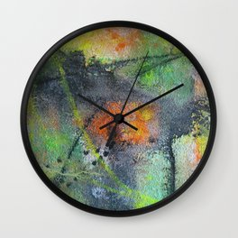 Ground-In Graffiti Wall Clock