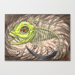 "Koi Series,""Behold a Pale Horse, and his name it said on it was death, and hell followed him."" Canvas Print"