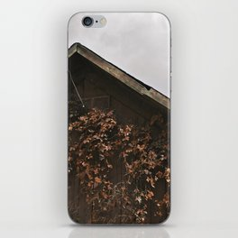 Camouflage - Red Leaves on Barn iPhone Skin