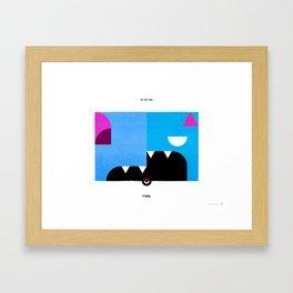 PKMNML #041 - 042 (EVOLUTION) ZU BAT - GOL BAT Framed Art Print
