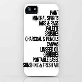 What a Plein Air Oil Painter Needs for a Perfect Day... iPhone Case