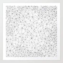 Geometric Line Art Design Art Print