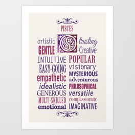 The Zodiac: Pisces Art Print