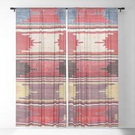 Nevsehir Cappadocian Central Anatolian Kilim Print Sheer Curtain
