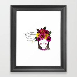 I'm a Girl Framed Art Print