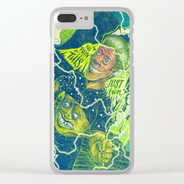 Acid Electric Burn Clear iPhone Case