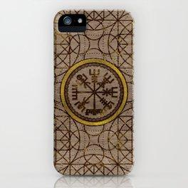 Vegvisir. The Magic Navigation Viking Compass iPhone Case