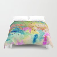 horses Duvet Covers featuring Horses  by Latidra Washington