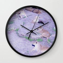 Lion Family Wall Clock