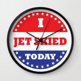 I Jet Skied Today Wall Clock