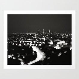 Los Angeles cityscape. L.A. Noir Art Print