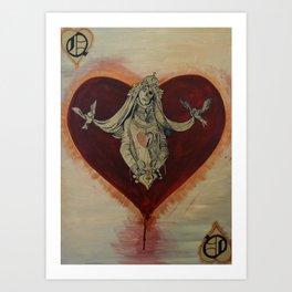 Queen of Brokenhearts Art Print