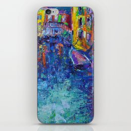 City of Canals - Modern Urban Cityscape of Venice by Adriana Dziuba iPhone Skin