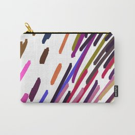 Ethnic lines on white geom. Carry-All Pouch