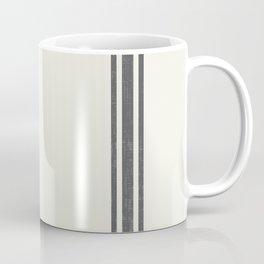 Gray Grey Stripes on light creme french grainsack digital design Coffee Mug