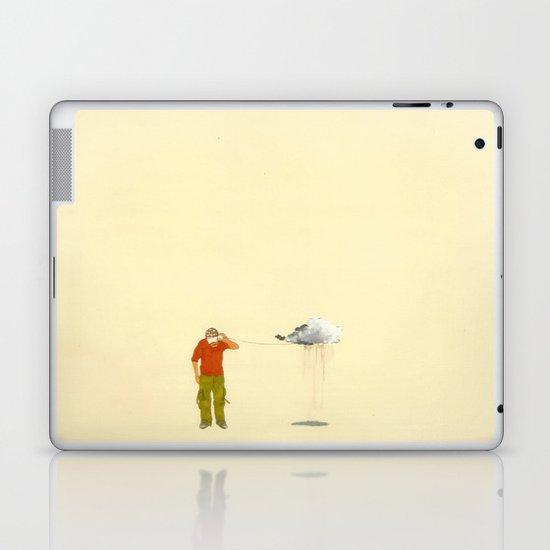 man listening to a cloud Laptop & iPad Skin