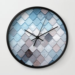 blue pattern Wall Clock