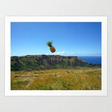 Flying Pineapple Art Print