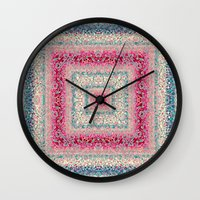 square Wall Clocks featuring Square by Truly Juel