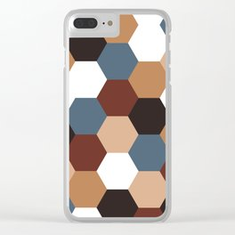 Honeycomb Hexagon Clear iPhone Case