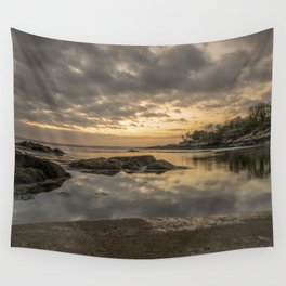 Sunset sky at Plum cove Beach Wall Tapestry