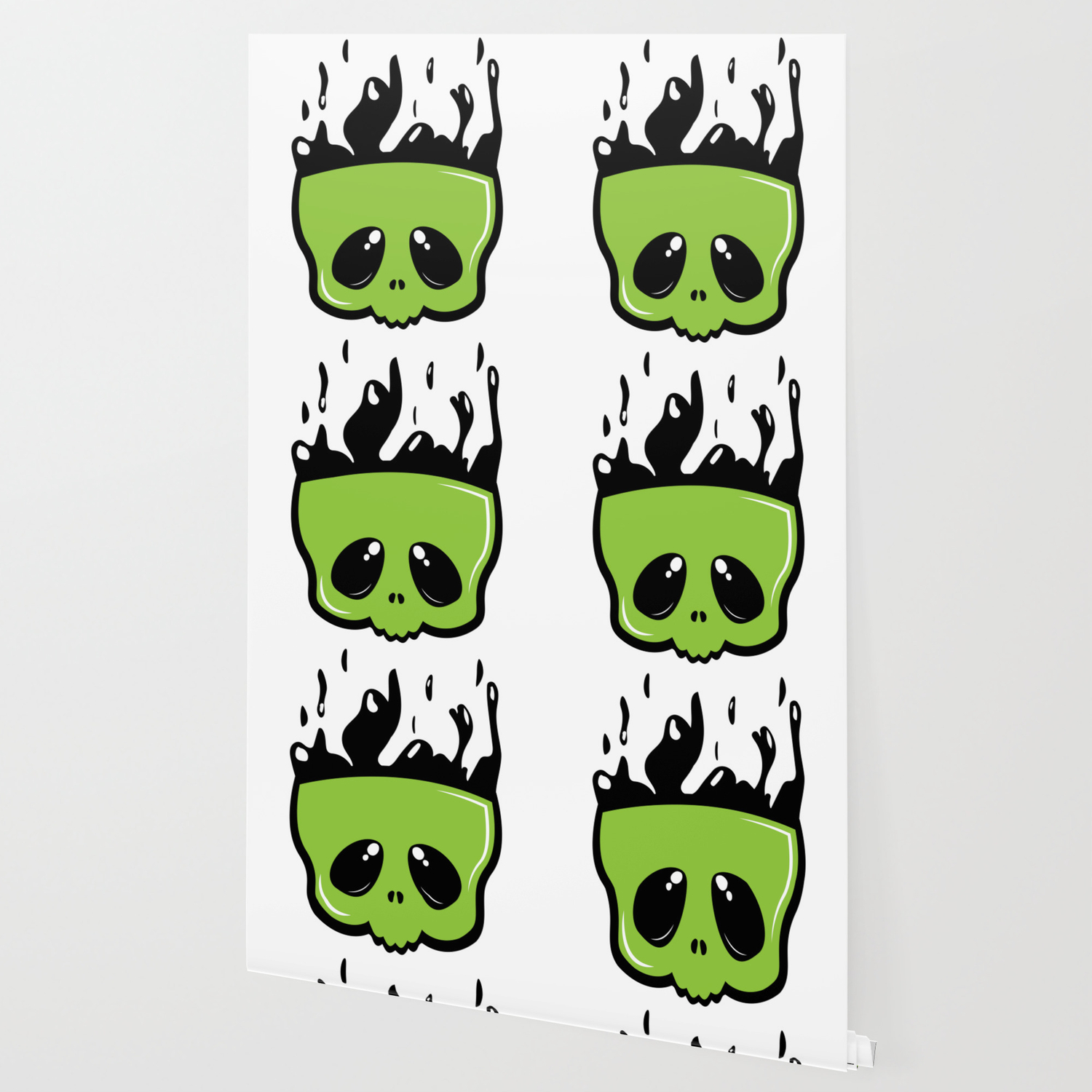 Cute green skull Wallpaper by