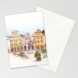 Urban square Stationery Cards