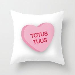 Catholic Conversation Heart Totus Tuus Throw Pillow