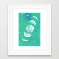 moon phase Framed Art Prints featuring Moon Phase  by The Adventuring Soul