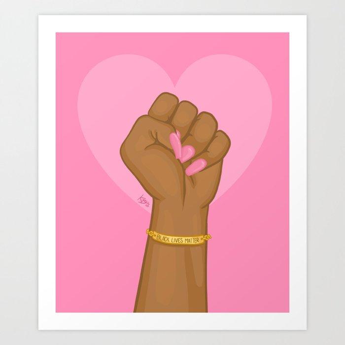 Black Lives Matter Power Fist Art Print